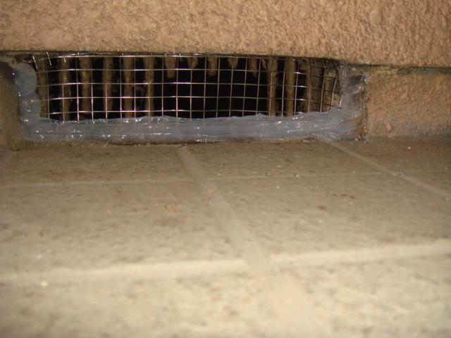 ネズミ防除施行(防鼠工事)