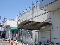 東京都内での大型スーパー足場工事