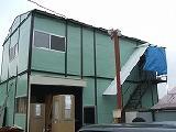 現在建設中の弊社倉庫です。近日完成予定!