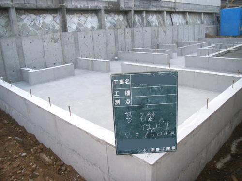 宝塚市戸建住宅基礎工事写真