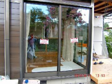 一戸建て ガラス工事