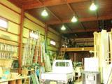 広い資材置場も完備。