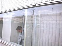 神奈川県横浜市 ビルのガラス交換